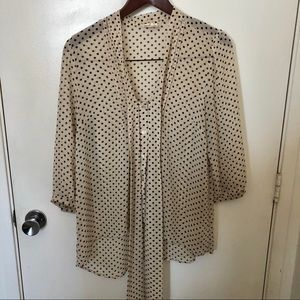 Urban Outfitters Tops - UO Pins & Needles polka dot blouse size large
